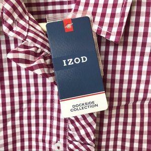 Izod Tops - NWT IZOD Button Down Sleeveless Top • Size SP